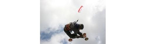 Land boarding kites